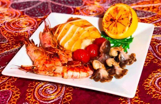 Гриль ассорти из морепродуктов
